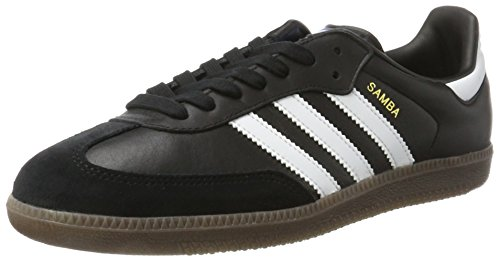 adidas Herren Samba OG Gymnastikschuhe, Schwarz (Core Black/FTWR White/gum5), 42 EU