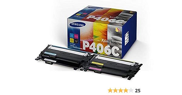 Samsung Clt P406c Els Original Toner C M Y K Value Pack Bürobedarf Schreibwaren
