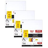 "Five Star® Reinforced Filler Paper, Wide Ruled, 10 1/2"" x 8"" 3 Pack"