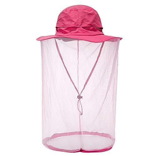 WXQY Outdoor Moskitonetz Dschungel Gesichtsmaske Anti-Moskito Schnelltrocknende Kappe Sportkappe Angeln Hut Wandern Hut Weiblich/Männlich