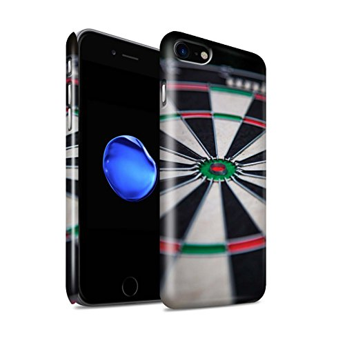 STUFF4 Glanz Snap-On Hülle / Case für Apple iPhone 8 / Bull/Bullseye Muster / Darts Foto Kollektion Dartscheibe
