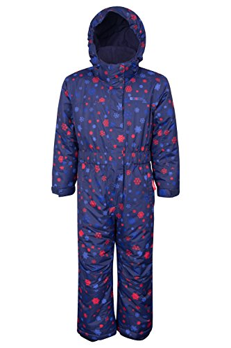 Mountain Warehouse Cloud Printed Kids All in One Snowsuit Navy 2-3 years