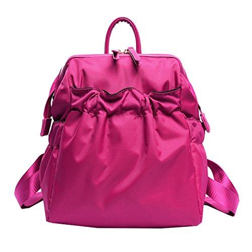 Yy.f Neue Schulterbeutel Handtaschen Nylon Hohe Student Taschen Damen Freizeit Reisetasche Praktische Interne Mehrfarbige Beutel Pink