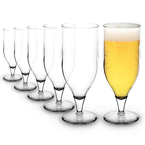 RB Unbreakable Stemmed Beer Nucleated Glasses Premium for sale  Delivered anywhere in UK