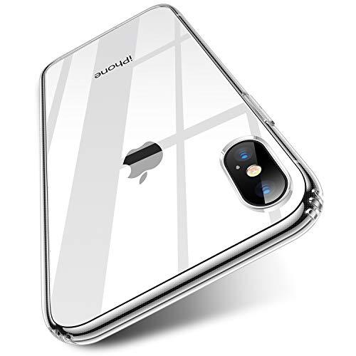 TORRAS HD Klar Dünn iPhone X Hülle/iPhone XS Hülle [Anti-Gelb & Voller Schutz] iPhone X/XS Case PC & TPU Hybrid Handyhülle für iPhone X/XS - Transparent Iphone Zubehör Cases