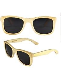 amoloma Holz Sonnenbrille Bambus Der Rahmen der Brille besteht aus Bambusholz / wayfarer style