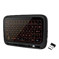 لوحة مفاتيح تعمل كلوحة لمس لاسلكية مع اضاءة خلفية من اجل اللاب توب 2.4 جيجا هرتز H18