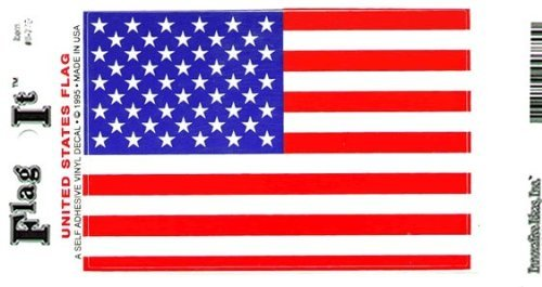 """US Flag Decal For Auto, Truck Or Boat - 5"""" x 8"""" - High Gloss UV Coated Laminate Water Proof Sticker DECAL"""