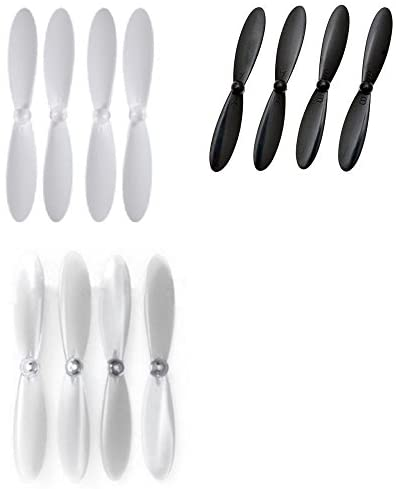 Attop YD-928 [QTY: 1] Clear Transparent Propeller Blades Props Transparent Clear Propellers [QTY: 1] H107D-02 Plus Blade Set All Black Quadcopter Parts [QTY: 1] White on - FAST FREE SHIPPING FROM Orlando, Florida USA! 219d43