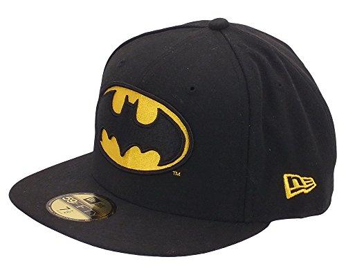 New Era 59Fifty Superhero Character Basic Badge 5950 Cap (Size 7+1/2 / 59.6cm, Batman)