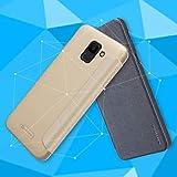 Handy schützen, Nillkin Fall für Samsung Galaxy J6 / J4 Flip/matt Vollkörpergehäuse Volltonfarbe hartes PU-Leder für J7 Duo / J6 / J4 für Samsung (Farbe : Golden, Kompatible Modellen : J6)