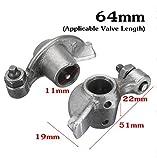 Wooya 2Pcs 64Mm/69Mm Rocker Arme Ventil Länge Für Chinesische Roller Gy6 50Cc 80Ccm Motor-64