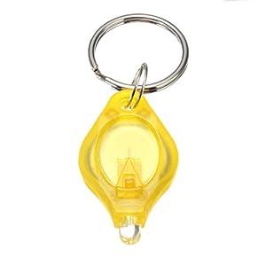 Lot de 5 Mini LED Lampe Lumineuse Avec Porte-Cle Etui Jaune Couleur Blanc