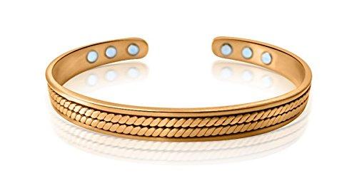 Alfred & Co. Jewellery Bracciale magnetico in rame-Bracciale di lusso con portagioie-salute-Braccialetto da uomo/donna-Elite Style