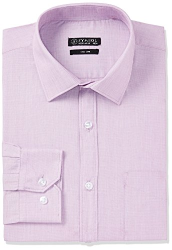 Symbol Men's Formal Regular Fit Shirt (S17MBS177_48_Lilac)