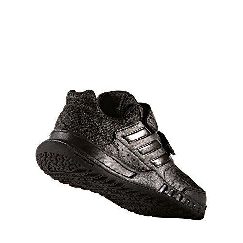 adidas Unisex-Kinder FortaGym CF K Gymnastikschuhe, Blanc/Blanc/Gris Clair Nero ( Negbas/Negbas/Grpudg)