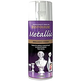 Rust-Oleum 400ml Metallic Spray Paint - Brilliant Chrome