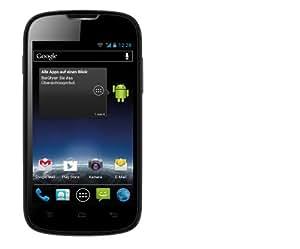 """Medion Life E4001 Smartphone avec écran à cristaux liquides, processeur double cœur 1 GHz, appareil photo 2 Mpx, mémoire interne 4Go, carte mémoire microSDHC supplémentaire de 4 Go, Android 4.0 Noir 10,2 cm (4"""")"""