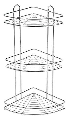 Duschablage mit 3 Korben | Telescope | Aluminium und Rostfrei Duschregal | Luxus Design, Hergestellt aus Edelstahl | Rutschfester Duschwandregal zum Aufhangen | Shampoohalter | Duschgelhalter