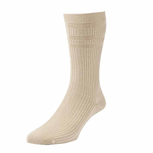 2 Pairs Men's H J Hall Soft Top Non-Elastic Cotton Rich Socks in Colours