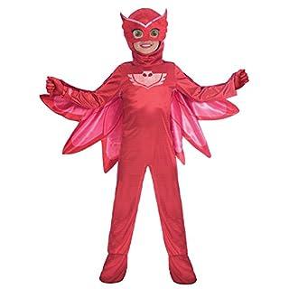 Amscan 9902961 Kinderkostüm PJ Masks Eulette, Rot, 5-6 Jahre
