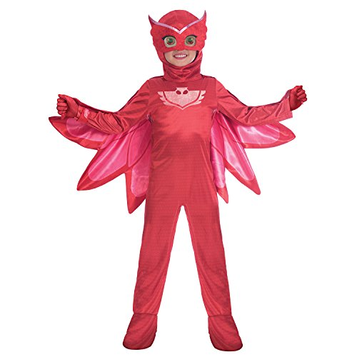 Amscan 9902961 Kinderkostüm PJ Masks Eulette Rot 5-6 - Cat Fancy Dress Kostüm Anzüge