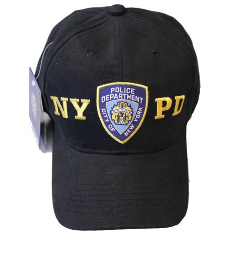 New York Cops-NYPD Baseball Hat New York Polizei schwarz & Gold one Size