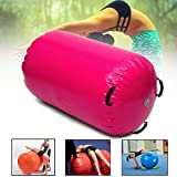 Pinkfishs 120x60cm Inflatable Gymnastik Air Rolls Beam Yoga Gymnastics Zylinder Airtrack Ubungspalke Training Air Mat - Grun