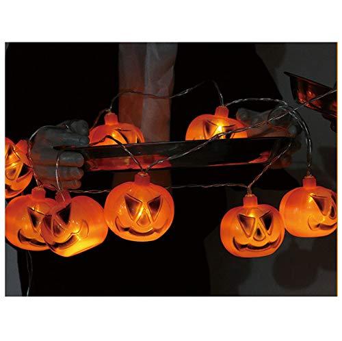 t Halloween Kürbis String Laternen Licht Geist Grimasse Scary Atmosphäre Batterie Box Dekorative Lampe Indoor Kid Spielzeug ()