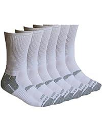 Para hombre blanco/gris Puma acolchada tripulación calcetines 9 – 11