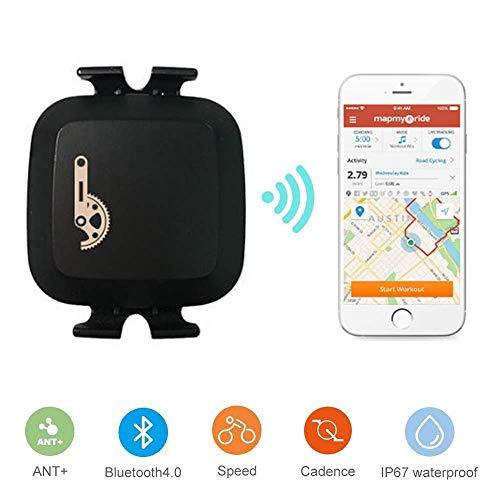 TAOPE Sensor de Cadencia Inalámbrico Bluetooth & ANT+ con doble modo de velocidad y sensor de cadencia