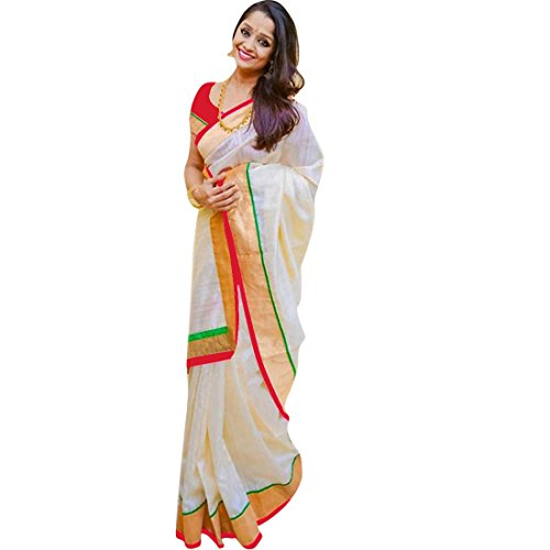 Pramukh Suppliers Women's Chanderi Cotton Saree With Blouse Piece (Z_R sarees for...