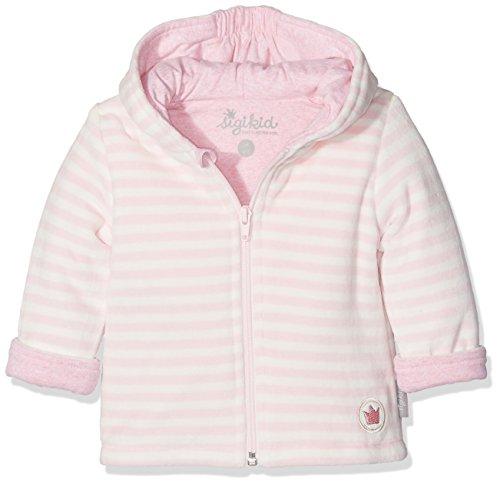 Sigikid Baby - Mädchen Jacke Nickijacke, New Born 113933, Gestreift, Gr. 62, Rosa (Barely Pink 666)