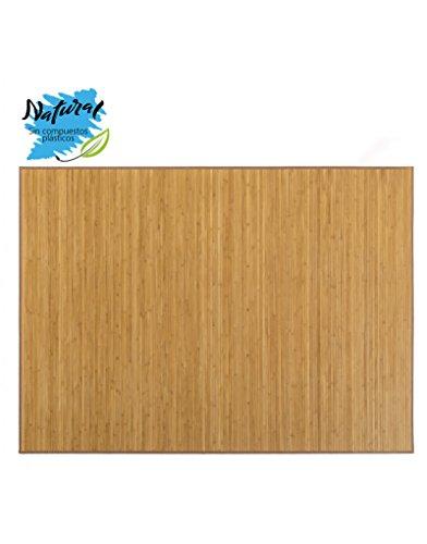 Hogar y Mas Alfombra DE Bambu Natural, para Salon - Comedor, Tono Beige Y Antideslizante, 180 X 250 CM.