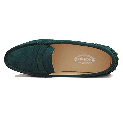 Meijili , Sandales Plateforme femme Peacock Green