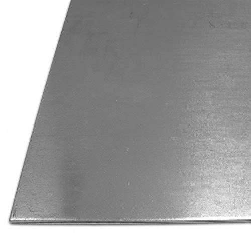 B&T Metall Stahl-Blech verzinkt St 1203 | 1,5 mm stark | Feinblech DX51 im Zuschnitt Größe 10 x 10 cm (100 x 100 mm)