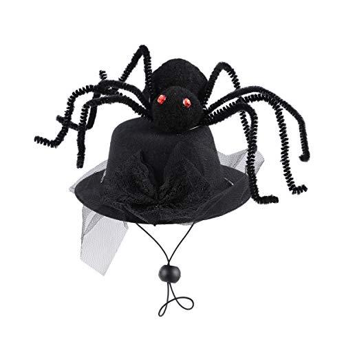 Amosfun Haustier Hut Spinne Form Kopfschmuck Halloween Haustier Kostüm Kopfbedeckung Zubehör Foto Requisiten für Katze Hund - Niedlich Haloween Kostüm