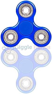 Giggle Hands Fidget Toy tipo Spinner para niños o adultos – Girador de cerámica Si3N4 Alta Velocidad – Gira 1 minuto – Juego Sensorial Tri-Spinner