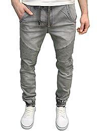 Seven Series Murphys Mens Skinny Jeans Elasticated Waist Cuffs Denim Trousers