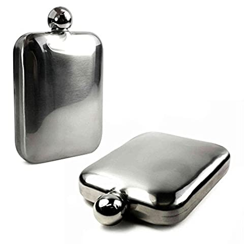Tuff-Luv E-Volve Hip Flask 6oz Stainless Steel [E10_70]