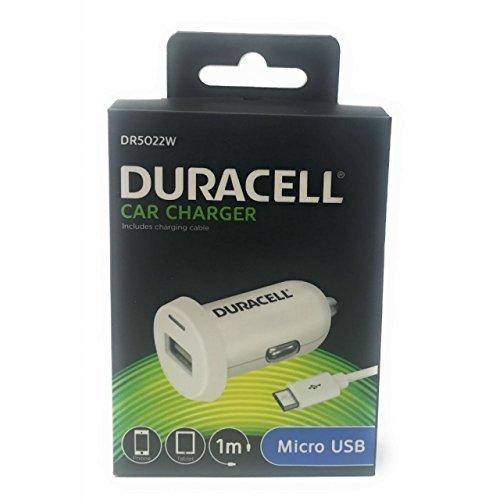 Duracell Kfz-Ladegerät/Adapter mit Micro-USB 2,4A Weiß für Sony Mix Walkman, 5V (Tragbaren Duracell Akku-ladegerät)