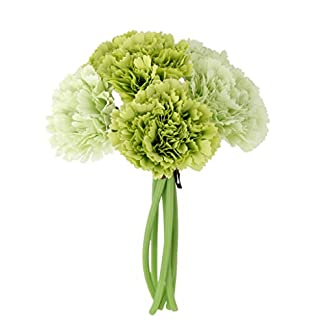 Ramo de Flor Clavel Artificial Decoración para Hogar Boda -Verde
