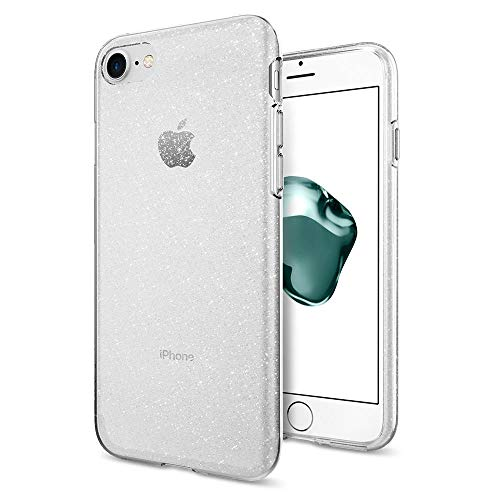 Spigen iPhone 8 Hülle, iPhone 7 Hülle [Liquid Crystal Glitter] Glitzer Design Silikon Handyhülle, Schutzhülle für Apple iPhone 8/7 Case - Crystal Quatz Apple Iphone Crystal Case