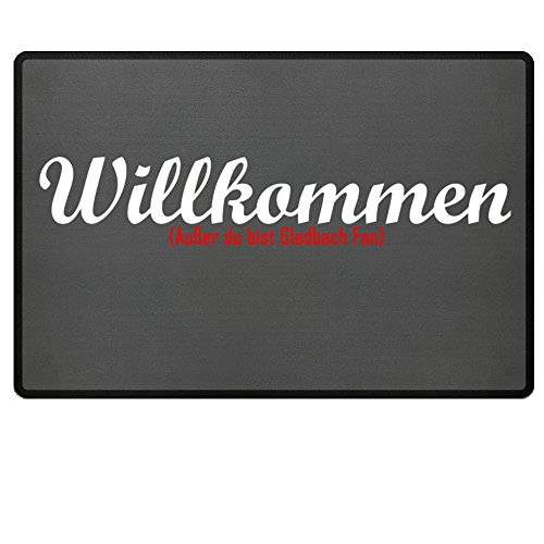 Fußmatte Anti Gladbach in grau - Lustige Fußball Schmutzfangmatte gebraucht kaufen  Wird an jeden Ort in Deutschland