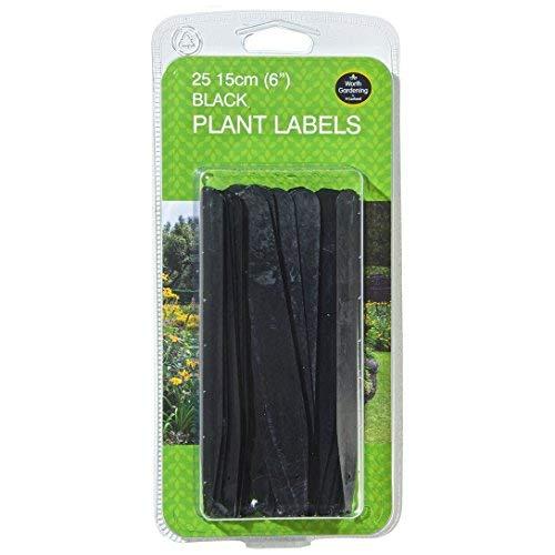 Guirlande de 15 cm (15,2 cm Étiquettes) plantes (25) noir