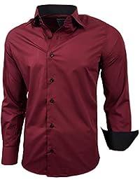 Baxboy Hombre de Camisa fácil de Planchar de Slim Fit para Traje 9d39113fd3bb