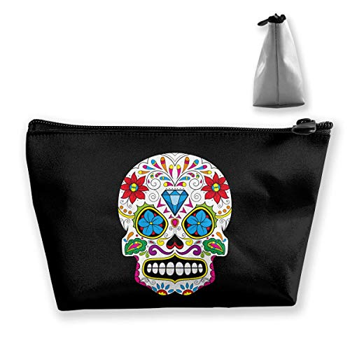 Skull Diamond Multifunction Travel Makeup Bags Cosmetic Bag Purse Organizers With Zipper ()