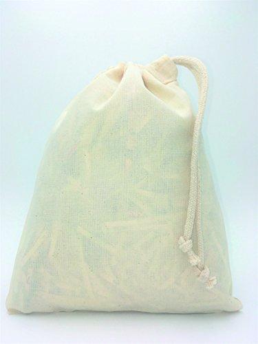Baumwollbeutel mit Kordelzug, versch. Größen Small  25cm x 30cm 3 Litre