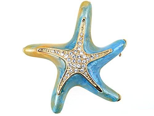 Swarovski Kristallelemente Perlglanz Blau Grün Dancin Seestern ()
