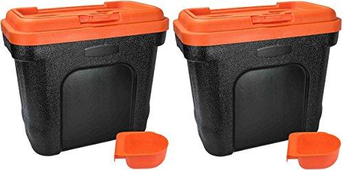 Nuevo 2X Animal 19litros caja de almacenamiento contenedor de comida para mascotas perro gato seco papelera de semillas de pájaro